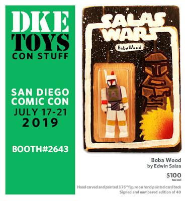 "San Diego Comic-Con 2019 Exclusive ""Boba Wood"" Star Wars Wood Figure by Edwin Salas x DKE Toys"