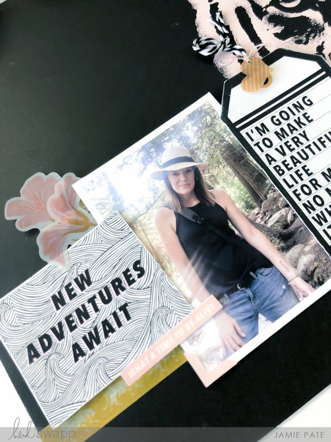 Heidi Swapp Old School Traditional Scrapbook Page