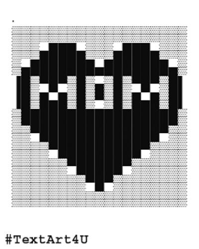 To ascii art text ASCII art