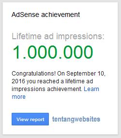 Pengalaman dapat ucapan selamat dari google AdSense