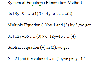 The Elimination Method.Beginner's Guide to Systems of Equations
