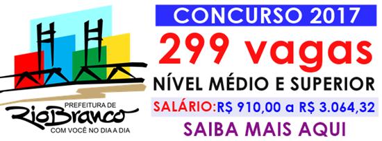 Apostila Prefeitura de Rio Branco AC 2017