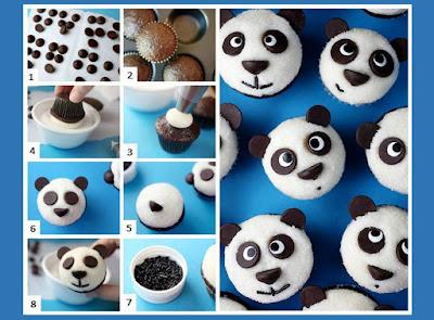 Cara membuat cupcake panda untuk acara ultah