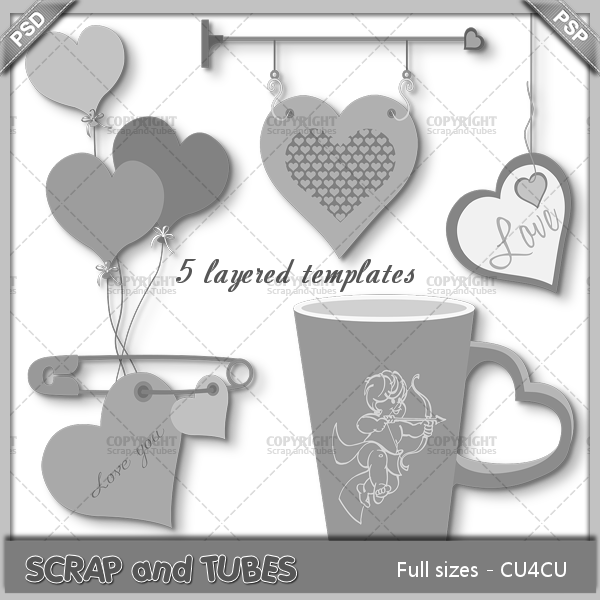 FREEBIE - Love Templates (FS/CU4CU)