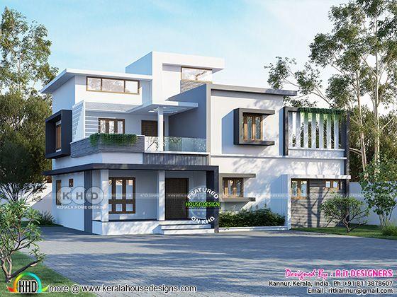 Modern style residence rendering