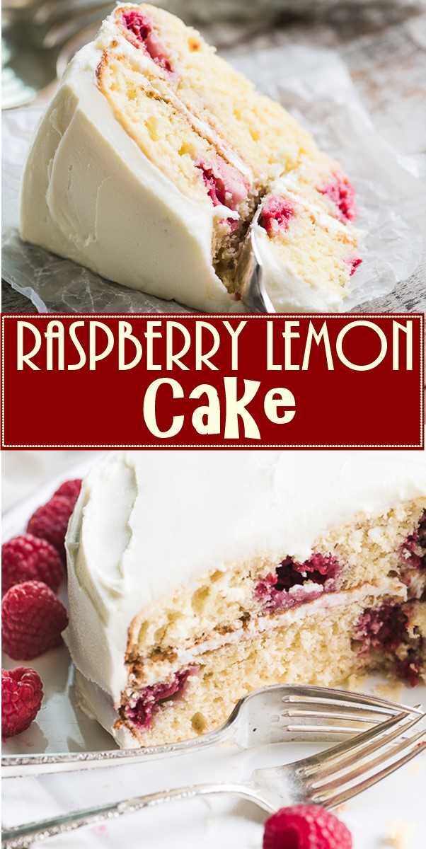 Raspberry Lemon Cake #cakerecipes