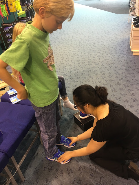 back to school shoe fitting at Brantano