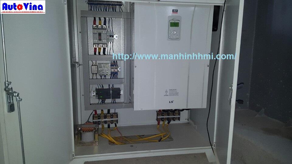 Tủ biến tần điều khiển dàn quay ly tâm trong dây chuyển sản xuất cọc bê tông ly tâm dự ứng lực.