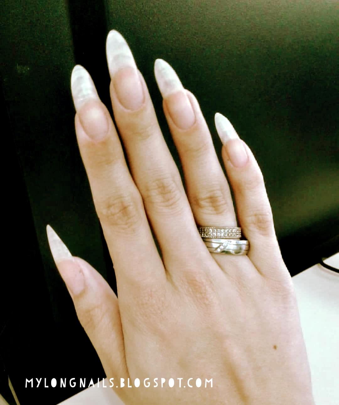 Long Nails: Julia\'s beautiful natural long nails - 1