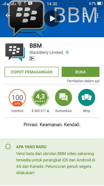 Aplikasi BBM Android dan iOS akan mendapatkan update fitur video call
