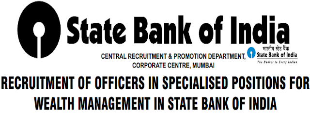 SBI,Specialist Cadre Officers,Recruitment