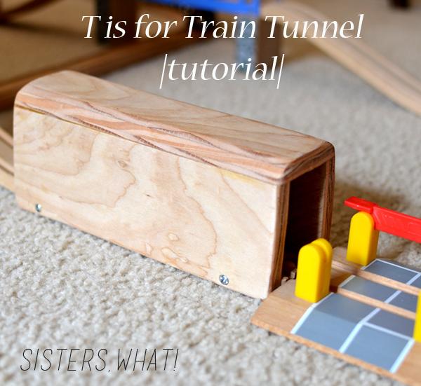 diy wood train tunnel