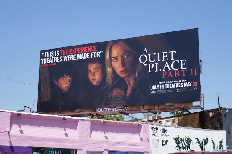 A Quiet Place Part II film 2021 billboard