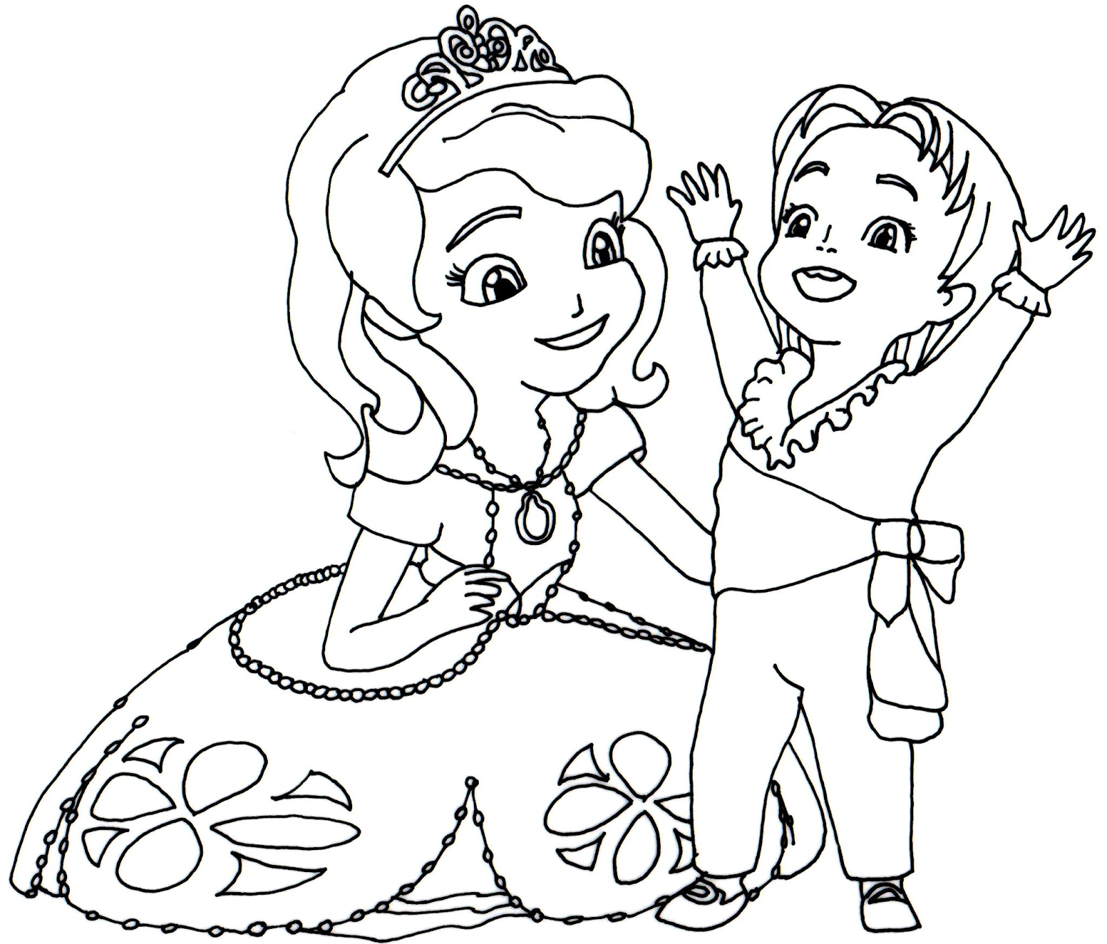 Sofia The First Coloring Pages April