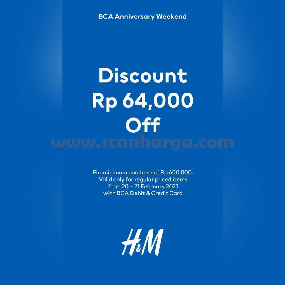 H&M Promo HUT BCA 64! Discount 60% Off