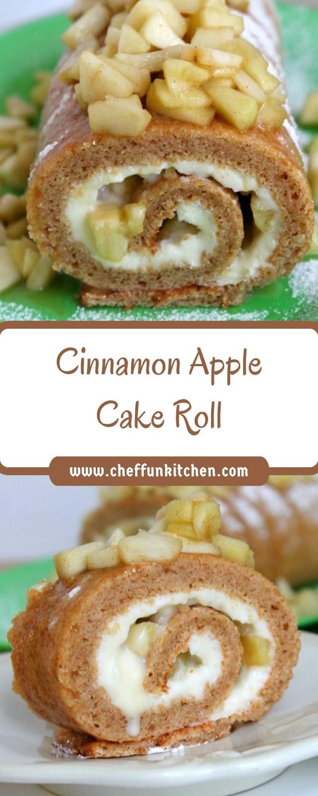 Cinnamon Apple Cake Roll
