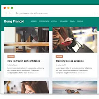 Bung Frangki Responsvie Blogger Template