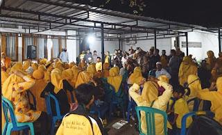 Kediaman IDP Terus Dibanjiri Massa Pendukungnya dari Berbagai Kecamatan