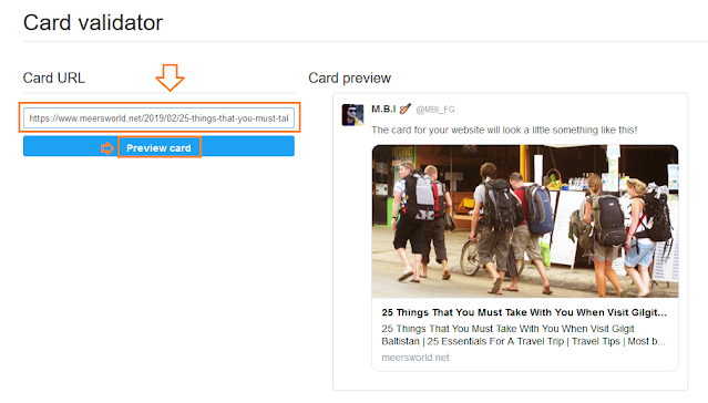 How To Show Website Posts On Twitter With Large Image  1