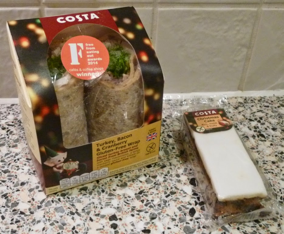 A combo of Christmas treats from Costa