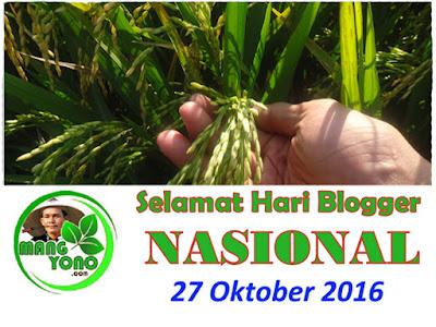Selamat Hari Blogger Nasional.. 27 Oktober 2016