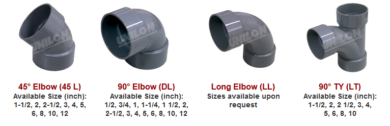 elbom, jis fittings unilon