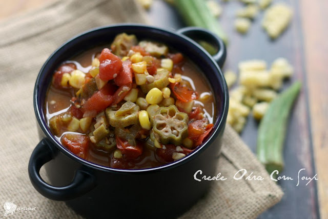 Creole Okra Corn Soup + The Easy Vegan Cookbook blog tour