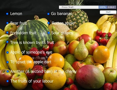 CLIL EFL ESL ELL ESOL TEFL Resources, Games & Activities: Fruit Idioms