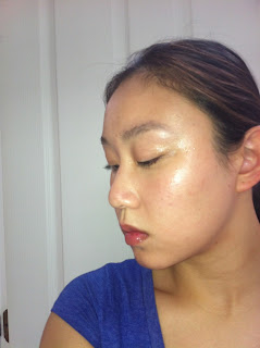 extreme strobing for dewy, glowing, highlighted skin