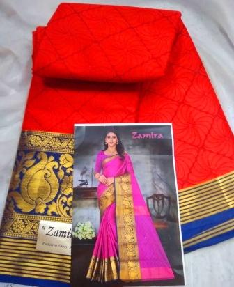 Cotton-silk border saree-30