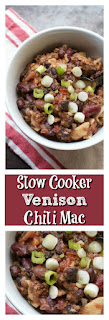 Slow Cooker Venison Chili Mac  || A Less Processed Life