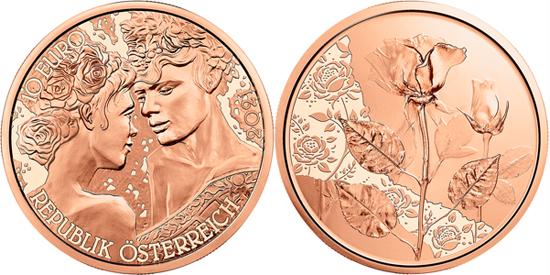 Austria 10 euro 2021 - The Rose