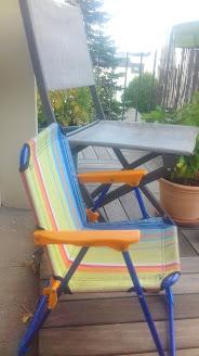 chaise pliante enfant camping en famille