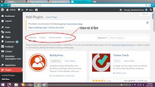 click plugins in wordpress dashboard