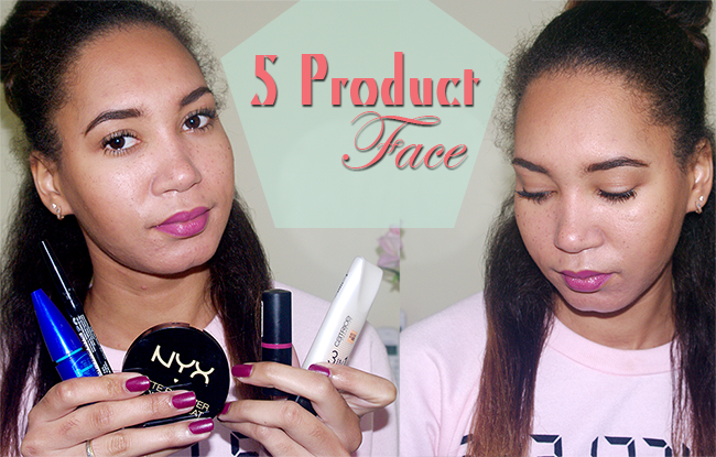 5 Product Face Tag/ Challenge, Video showing you how to do your entire makeup with just 5 products