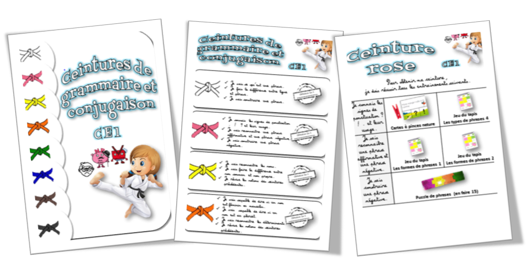 qualité de la marque ramassé gamme complète d'articles Teacher Charlotte: Ceintures de compétences en grammaire et ...