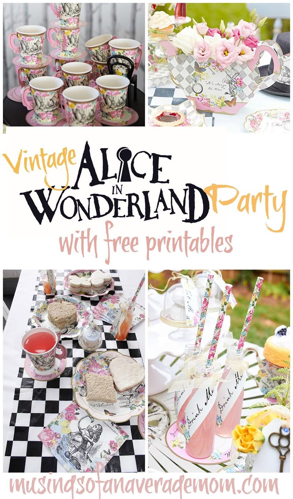 Musings Of An Average Mom Vintage Alice In Wonderland Party