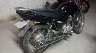Moto roubada em São Vicente do Seridó é achada no sitio Boa Vista