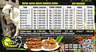 Harga Aqiqah 2019 Surabaya, Sidoarjo, Gresik