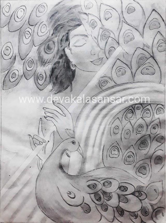 Drawing Of Krishna( कृष्णा स्पेशल )