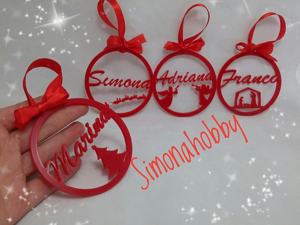 """Molto Simonahobby """"fimo e non solo"""": decorazioni natalizie con nome in  GX62"""