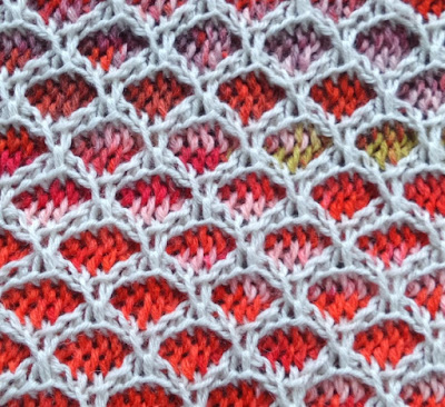 Two colour slip stitch crochet grid pattern