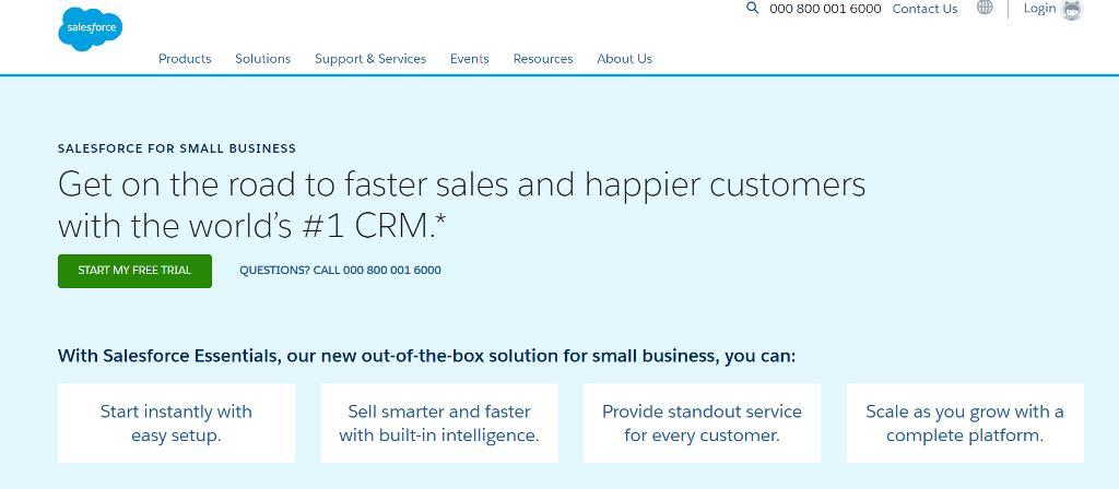 Alternatives to Zendesk: Salesforce Essentials