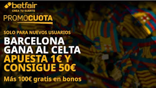 betfair supercuota celta v barcelona 1-10-2020