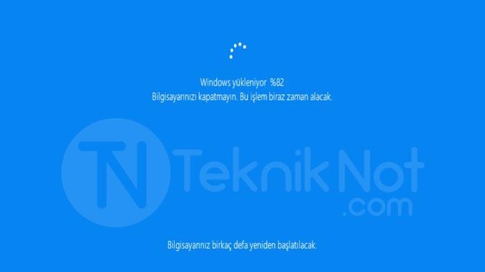 Windows 10 fabrika ayarlarına dönme