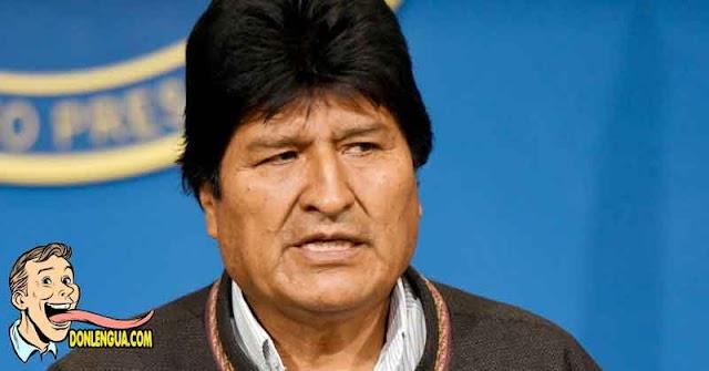 La Pachamama no salvó a Evo Morales y está infectado con el Virus Chino