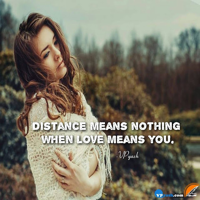 No Matter With Distance, If True Love Exist