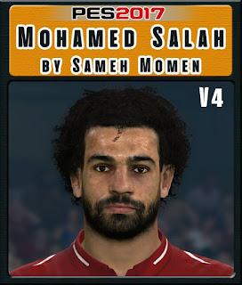 PES 2017 Faces Mohamed Salah by Sameh Momen