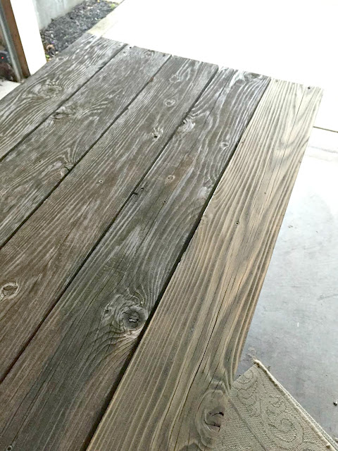 Sanding down old cedar