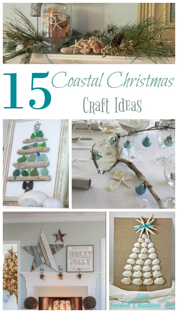 beach crafts that are perfect for holiday decorating - Coastal Themed Christmas Decorations